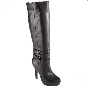 Aldo Delavergne Knee High Black Leather Boot
